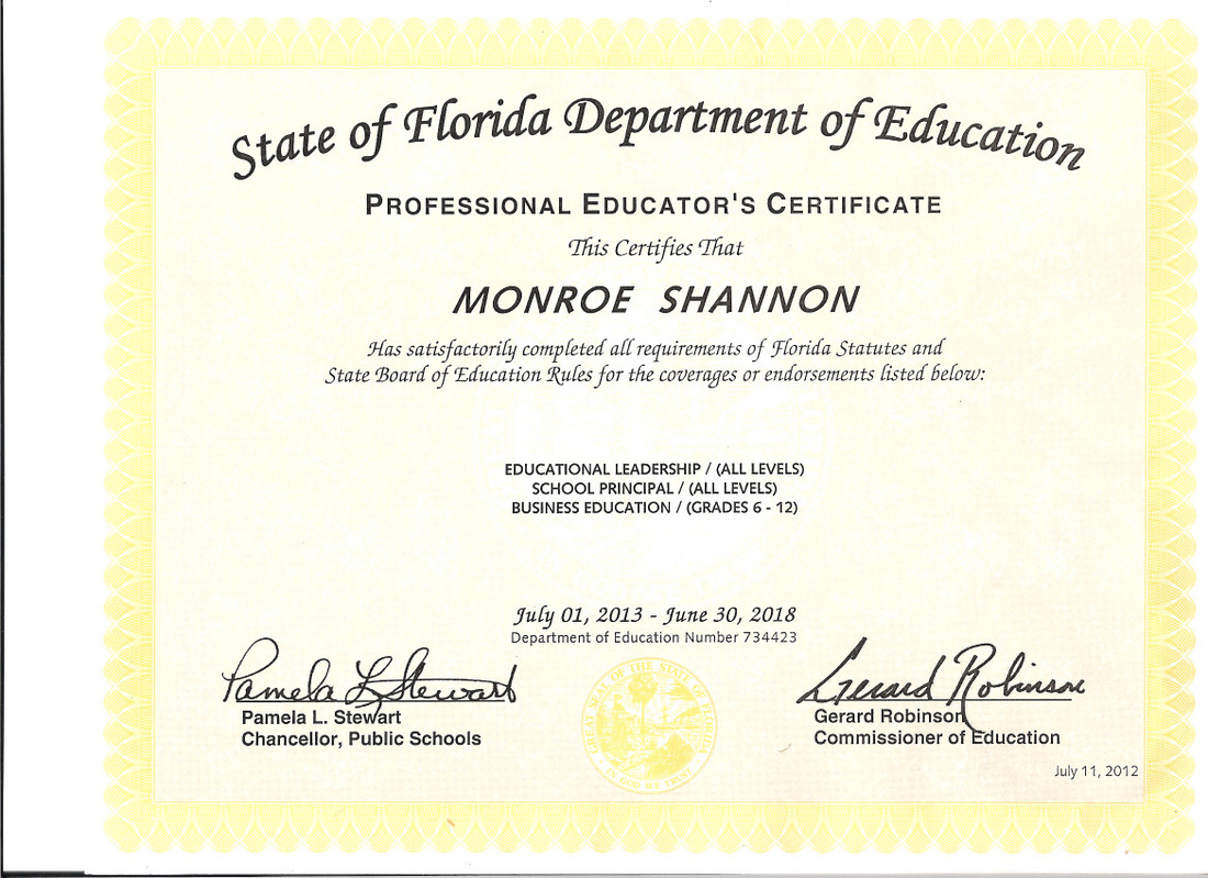 educational certifications